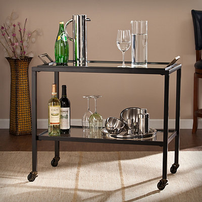 Black Valentino Bar Cart