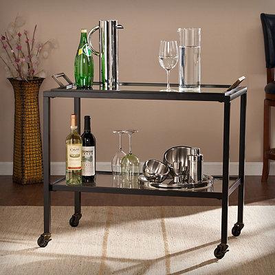 Black Valentino Bar Cart