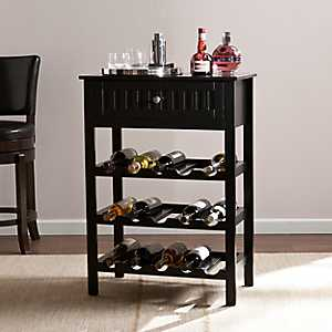 Stewart Black Wine Rack Table