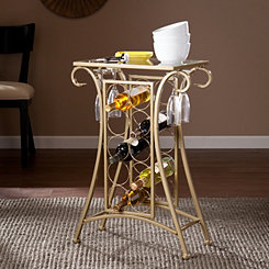 Gold Scroll Wine Rack