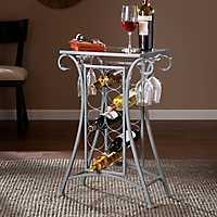 Silver Scroll Wine Rack