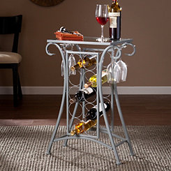 Silver Scroll Wine Rack