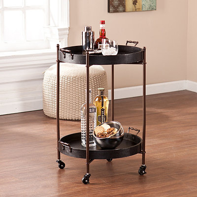 Chance's 2-Tier Round Serving Cart