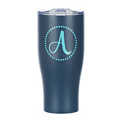 Navy Monogram A Insulated Tumbler