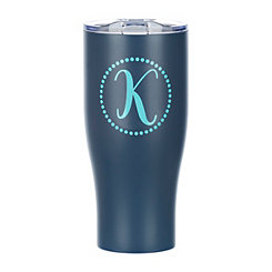 Navy Monogram K Insulated Tumbler