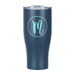 Navy Monogram M Insulated Tumbler