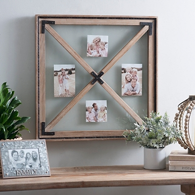 natural windowpane collage frame