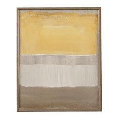 Yellow and Gray Abstract I Framed Art Print