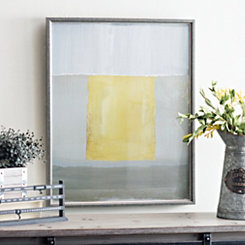 Yellow and Gray Abstract II Framed Art Print