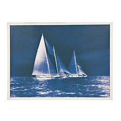 Indigo Sailing Ships I Framed Art Print