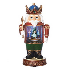 Pre-Lit Musical Nutcracker and Ballerina Statue