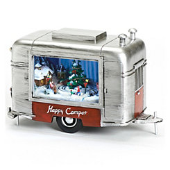 Happy Camper Musical Christmas Figurine
