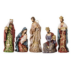 Gold Leaf Nativity Scene, Set of 5