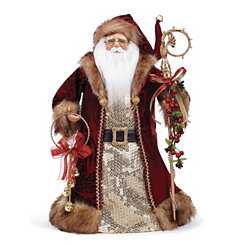 Burgundy Velvet Santa Tree Topper