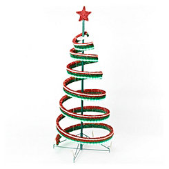 LED Outdoor Red and Green Double Spiral Tree