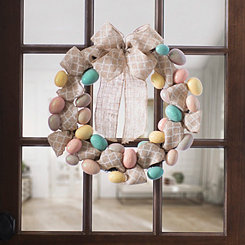 Easter Egg Burlap Wreath