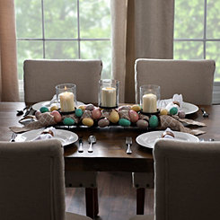 Eggs and Burlap Easter Centerpiece