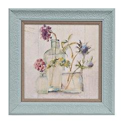 Blum Floral Chalk Framed Art Print