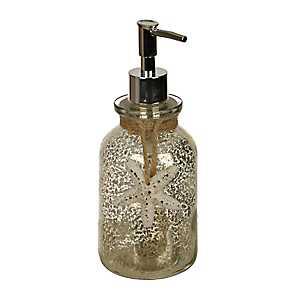 Silver Starfish Mercury Glass Soap Pump