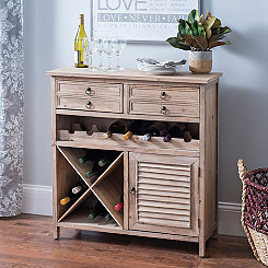 Weathered Wood Jackson Wine Cabinet
