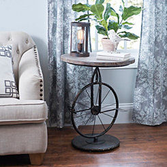 Rustic Bicycle Accent Table