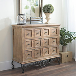 Rustic Wood Scrolled Madison Chest
