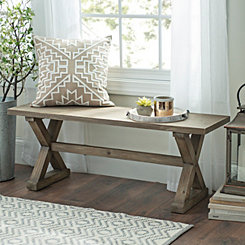Wooden Farmhouse Bench