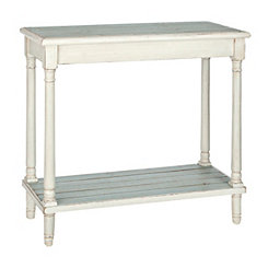 Blue and White Planked Console Table