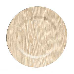Light Wood Grain Charger