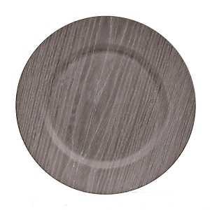 Dark Wood Grain Charger