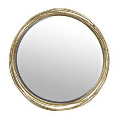 Champagne Vortex Metal Mirror