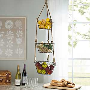 Bronze 3-Tier Hanging Baskets