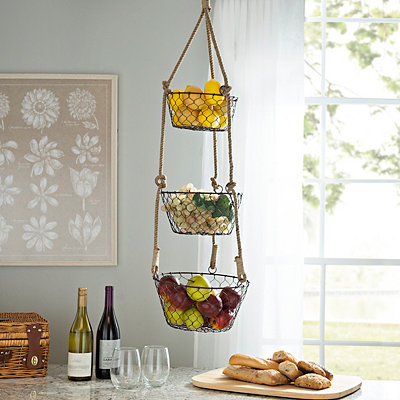 Bronze 3-Tier Hanging Baskets
