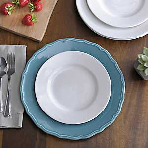 Celedon Blue Charger Plate
