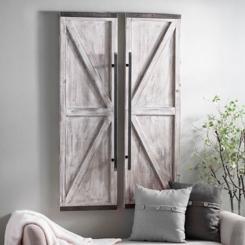 Wooden Faux Barn Door Plaque