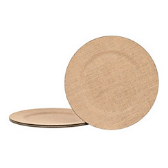 Burlap Charger Plates, Set of 4