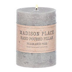 Gray Pillar Candle, 4 in.