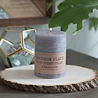 4 Inch Gray Pillar Candle