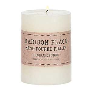 Ivory Unscented Pillar Candle, 4 in.