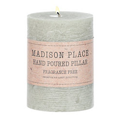 Green Pillar Candle, 4 in.