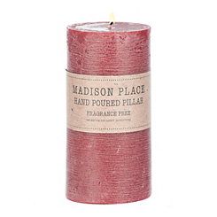 Burgundy Pillar Candle, 6 in.