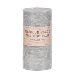 Gray Pillar Candle, 6 in.
