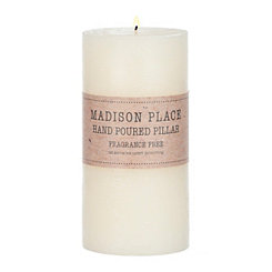 Ivory Unscented Pillar Candle, 6 in.