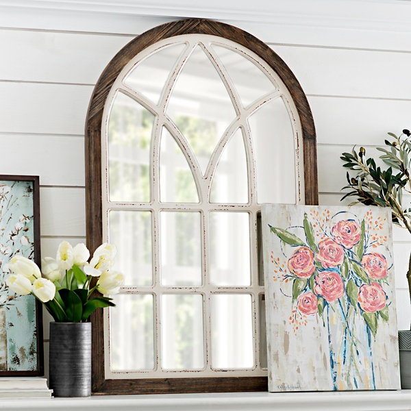 vail twotone arch wall mirror