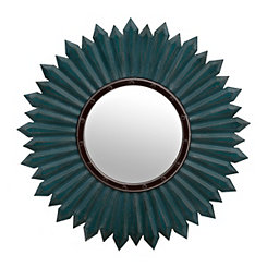 Blue Bloom Wall Mirror