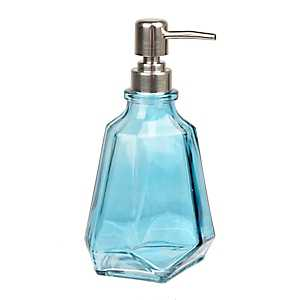 Blue Jewel Cut Soap Pump