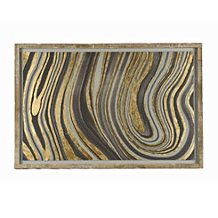 Gray and Gold Geode Floater Frame Art Print