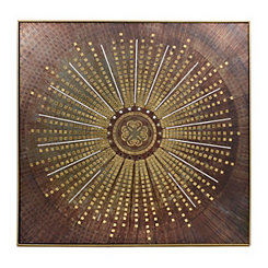 Medallion Framed Metal Wall Art