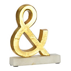 Gold and Marble Ampersand Figurine