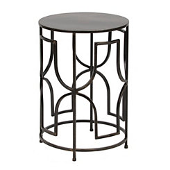 Bronze Geometric Outdoor Side Table